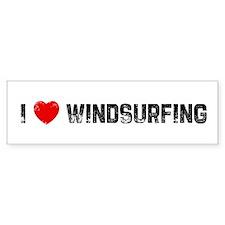 I * Windsurfing Bumper Bumper Sticker