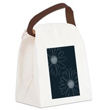 Blue and White Daisies Canvas Lunch Bag