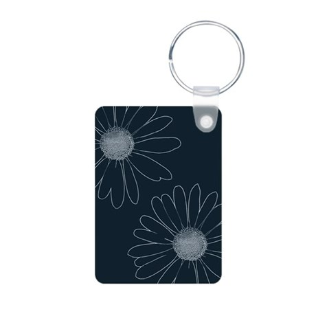 Blue and White Daisies Keychains