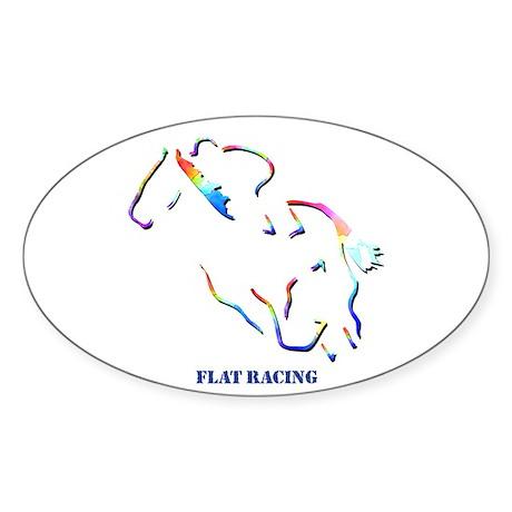 Flat Racing Oval Sticker