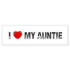 I * My Auntie Bumper Bumper Sticker