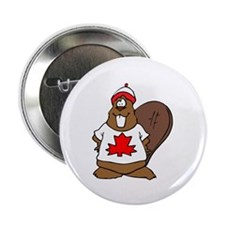 Canadian Beaver Button