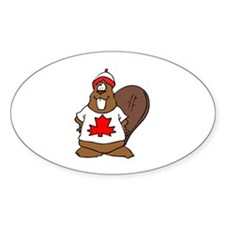 Canadian Beaver Oval Decal