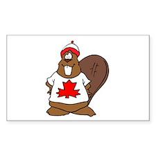 Canadian Beaver Rectangle Decal