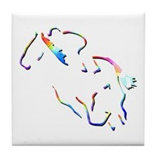 Flat Racing Picture Tile Coaster