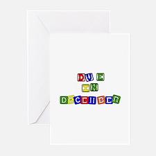 Blockes-Due In December Greeting Cards (Package of