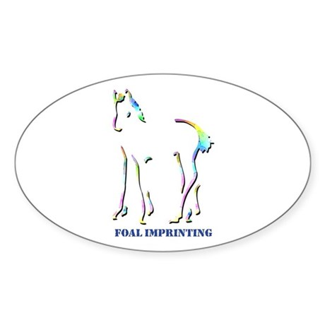 Foal Imprinting Oval Sticker