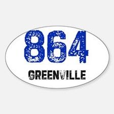 864 Oval Decal