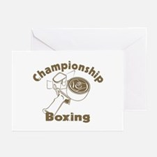 Championship Boxing Greeting Cards (Pk of 10)