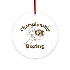 Championship Boxing Ornament (Round)