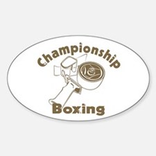 Championship Boxing Oval Decal
