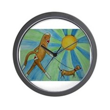 Walking the Dog Wall Clock