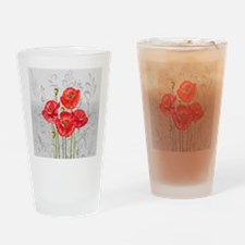 Four pretty red poppies Drinking Glass