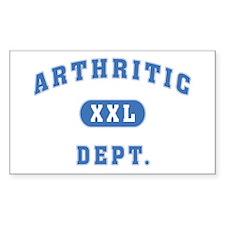 Arthritic Dept. Rectangle Decal