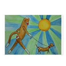 Walking the Dog Postcards (Package of 8)