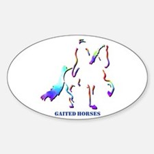 Gaited Horses Oval Decal
