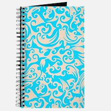 Aqua & Linen Swirls Journal