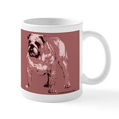 Red Color Bulldog Coffee Mug