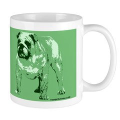 Green Color Bulldog Coffee Mug