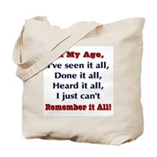 Can't remember it all  Tote Bag