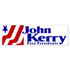 Kerry Para Presidente Bumper Sticker
