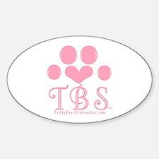 TBS Pink Monogram/Logo Oval Decal