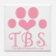 TBS Pink Monogram/Logo Tile Coaster