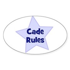 Cade Rules Oval Decal