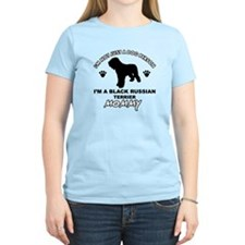 Black Russian Terrier Mommy Vector designs T-Shirt