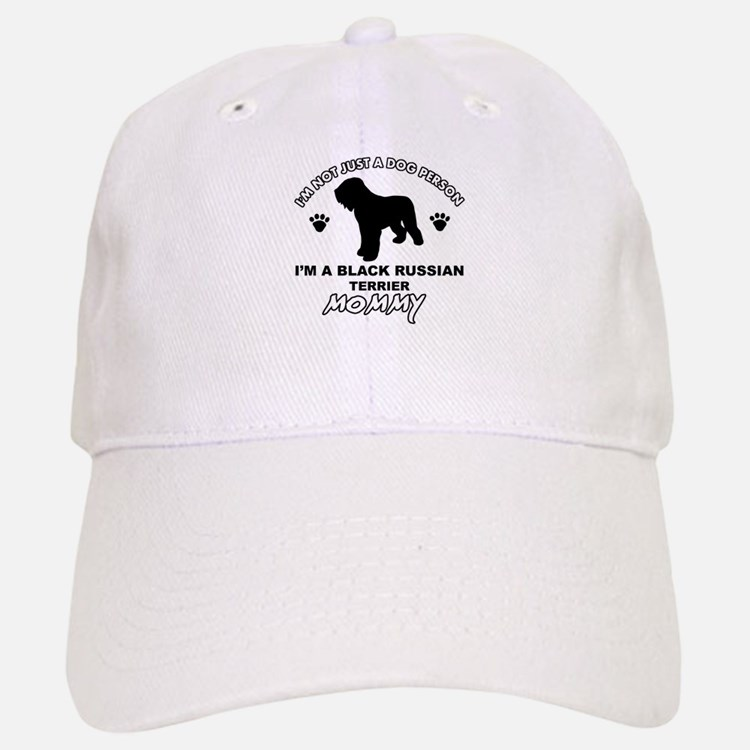 Black Russian Terrier Mommy Vector designs Baseball Baseball Cap
