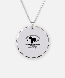 Black Russian Terrier Mommy Vector designs Necklac