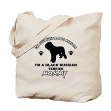 Black Russian Terrier Mommy Vector designs Tote Ba