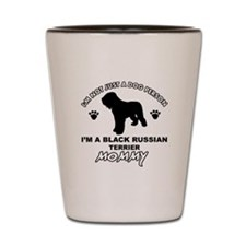 Black Russian Terrier Mommy Vector designs Shot Gl