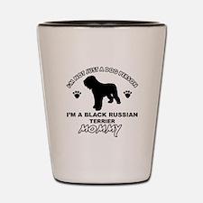 Black Russian Terrier Mommy Vector designs Shot Gl