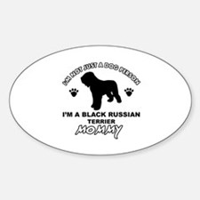 Black Russian Terrier Mommy Vector designs Decal