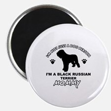 Black Russian Terrier Mommy Vector designs Magnet
