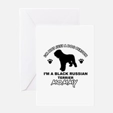 Black Russian Terrier Mommy Vector designs Greetin