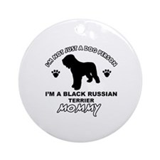 Black Russian Terrier Mommy Vector designs Ornamen