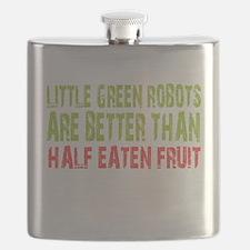 Little green robots better than half eaten fruit F