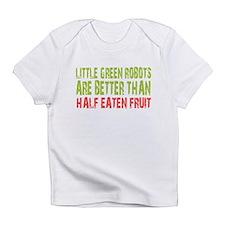 Little green robots better than half eaten fruit I