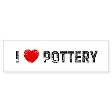 I * Pottery Bumper Bumper Sticker
