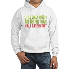 Little green robots better than half eaten fruit H