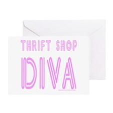 THRIFT SHOP DIVA Greeting Card