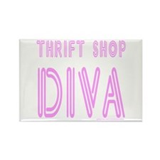 THRIFT SHOP DIVA Rectangle Magnet