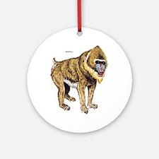 Mandrill Monkey Ape Ornament (Round)