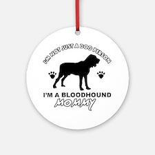 Bloodhound Mommy Vector designs Ornament (Round)