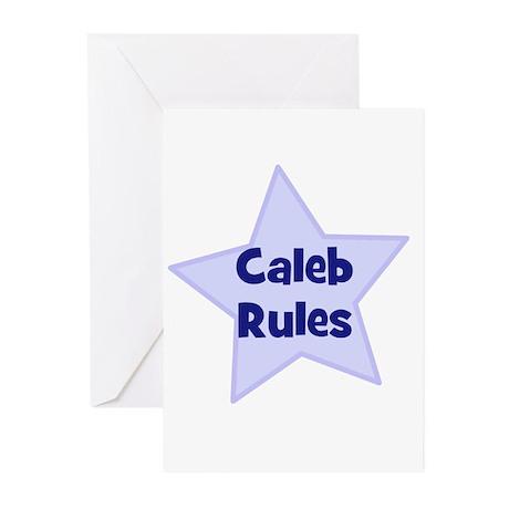 Caleb Rules Greeting Cards (Pk of 10)