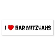 I * Bar Mitzvahs Bumper Bumper Sticker
