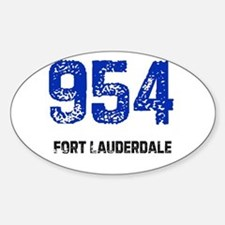954 Oval Decal