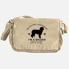 Briard Mommy Messenger Bag